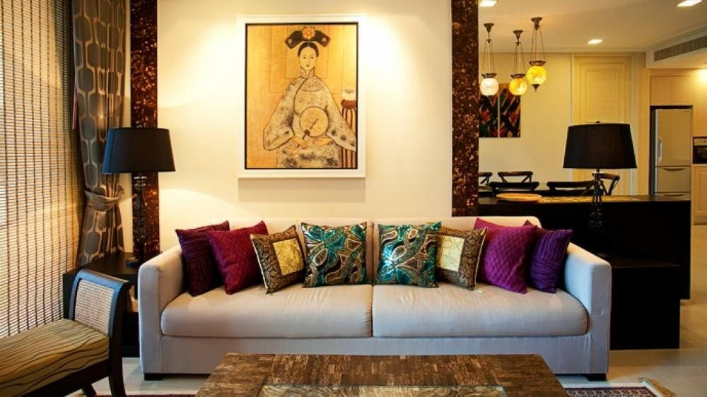 Jewel Coloured Cushions And A Touch Of Classically Styled Art