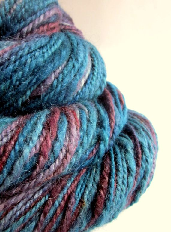 Handspun alpaca and silk yarn / wool two skeins by thefibretree, £10.99