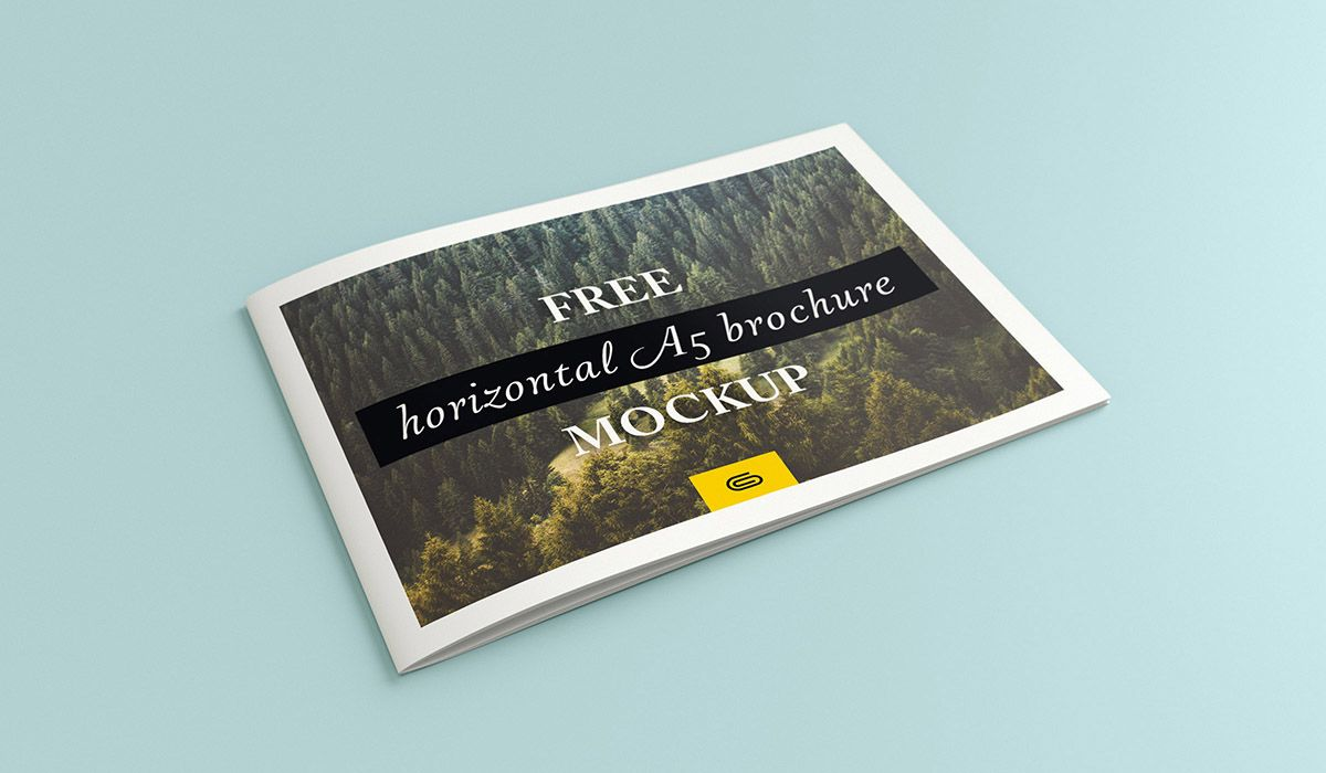 TodayS Freebie Is A Landscape  Horizontal A Brochure Mockup Psd