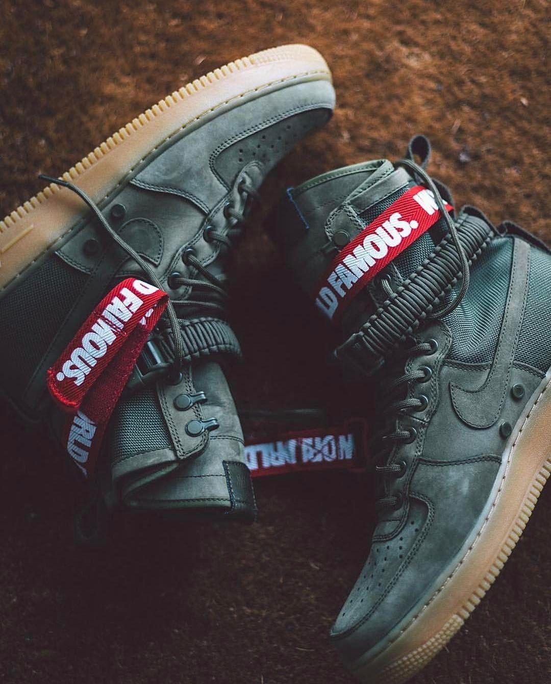 Nike Air Force 1 black suede · Fresh sneakers and vintage