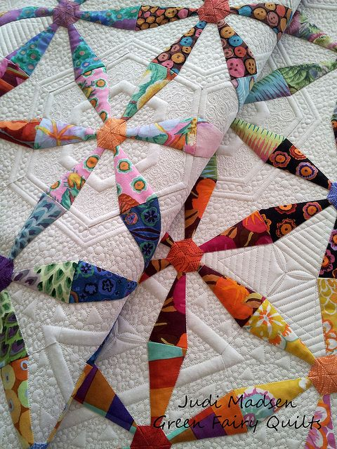 Spring Wheels quilt by Lindsay Fulmer, made with Kaffe Fassett ... : judi madsen quilts - Adamdwight.com
