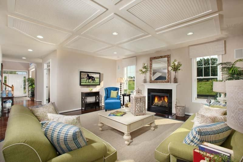 Gorgeous Living Room With 9 Foot Ceilings At The Stable Hill Model Home In  Henrico,
