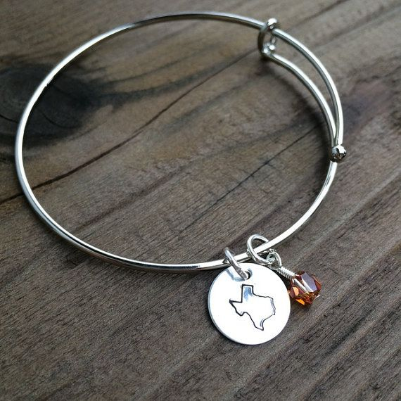 Already Made Ready To Ship State Of Texas Bracelet