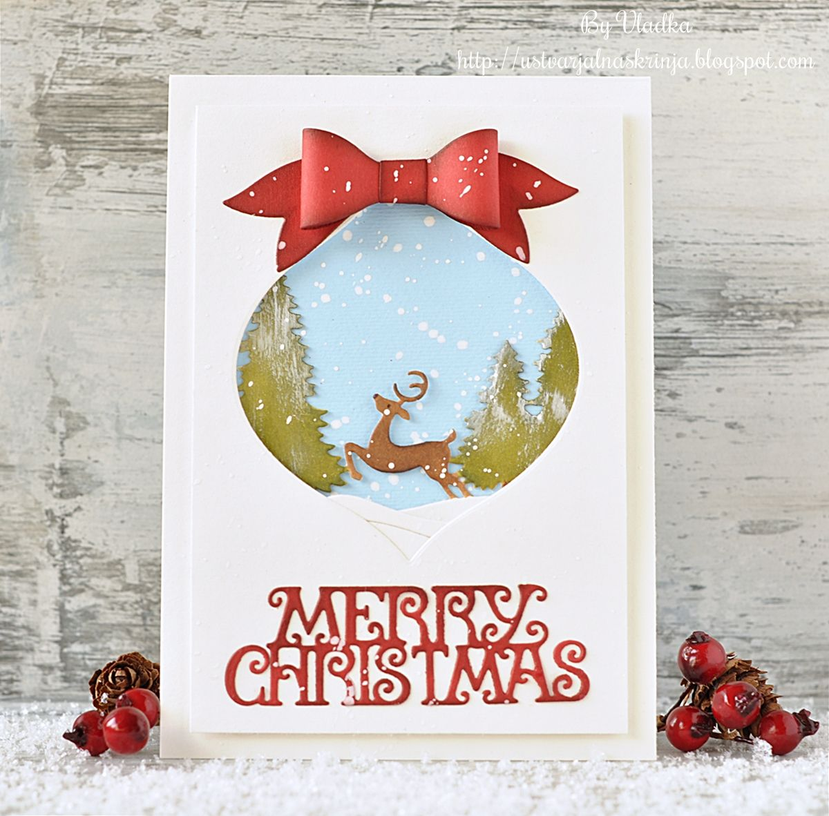 Hi, Vladka here! It is such fun to play with Christmas dies and ...