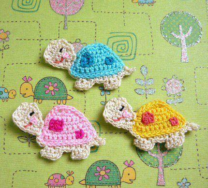 Luty artes crochet me encant estas aplicaciones de - Aplicaciones en crochet ...