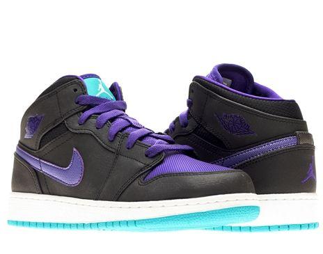 Nike Air Jordan 1 Mid (GS) Boys Basketball Shoes  981d7ea1b480