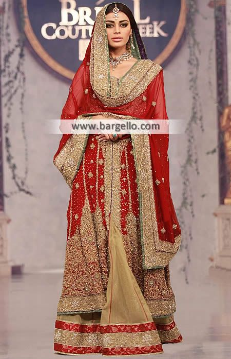 5127056aab D5684 - Traditional Red Bridal Dress with Sharara - UK USA Canada Australia  Saudi Arabia Bahrain Kuwait Norway Sweden New Zealand Austria Switzerland  ...