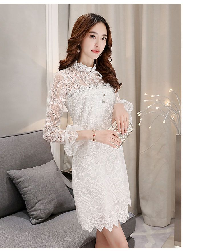 Romantica Long-Sleeve Lace Dress | YESSTYLE