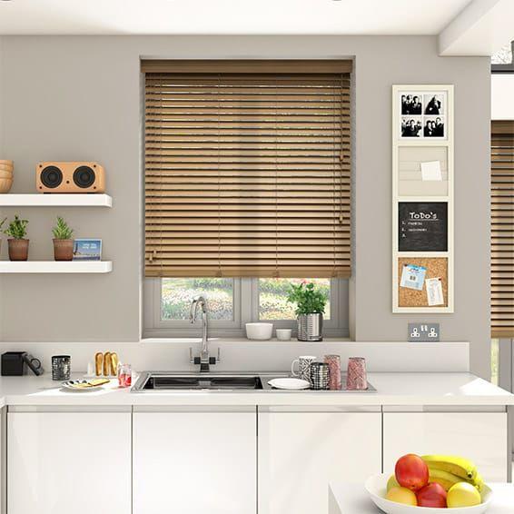 majestic wooden blinds for bathrooms. Majestic Oak Faux Wood Blind  38mm Slat Window Treatments For