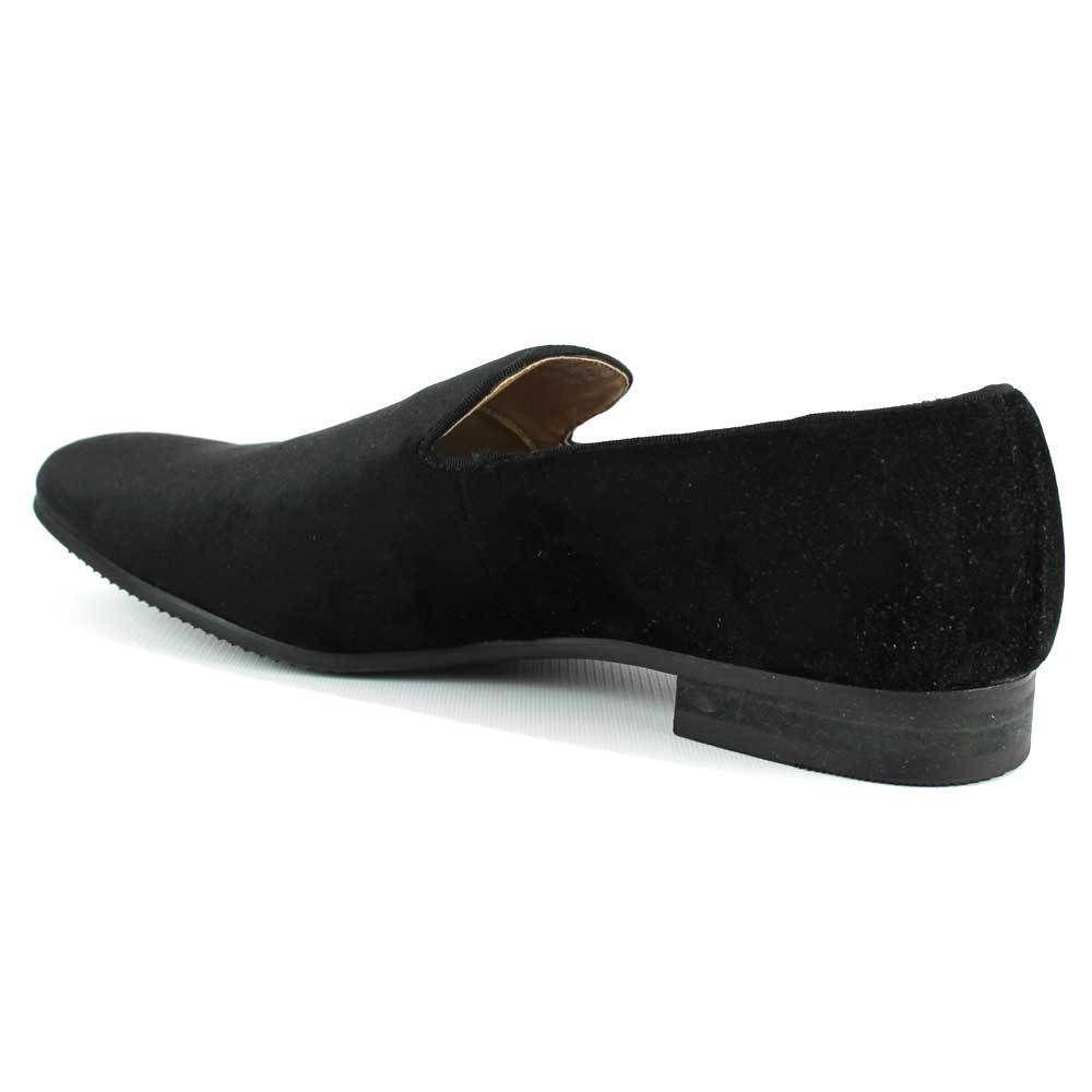 Black Velvet Slip On Loafers Men/'s Dress Shoes Modern Formal Footwear By AZAR