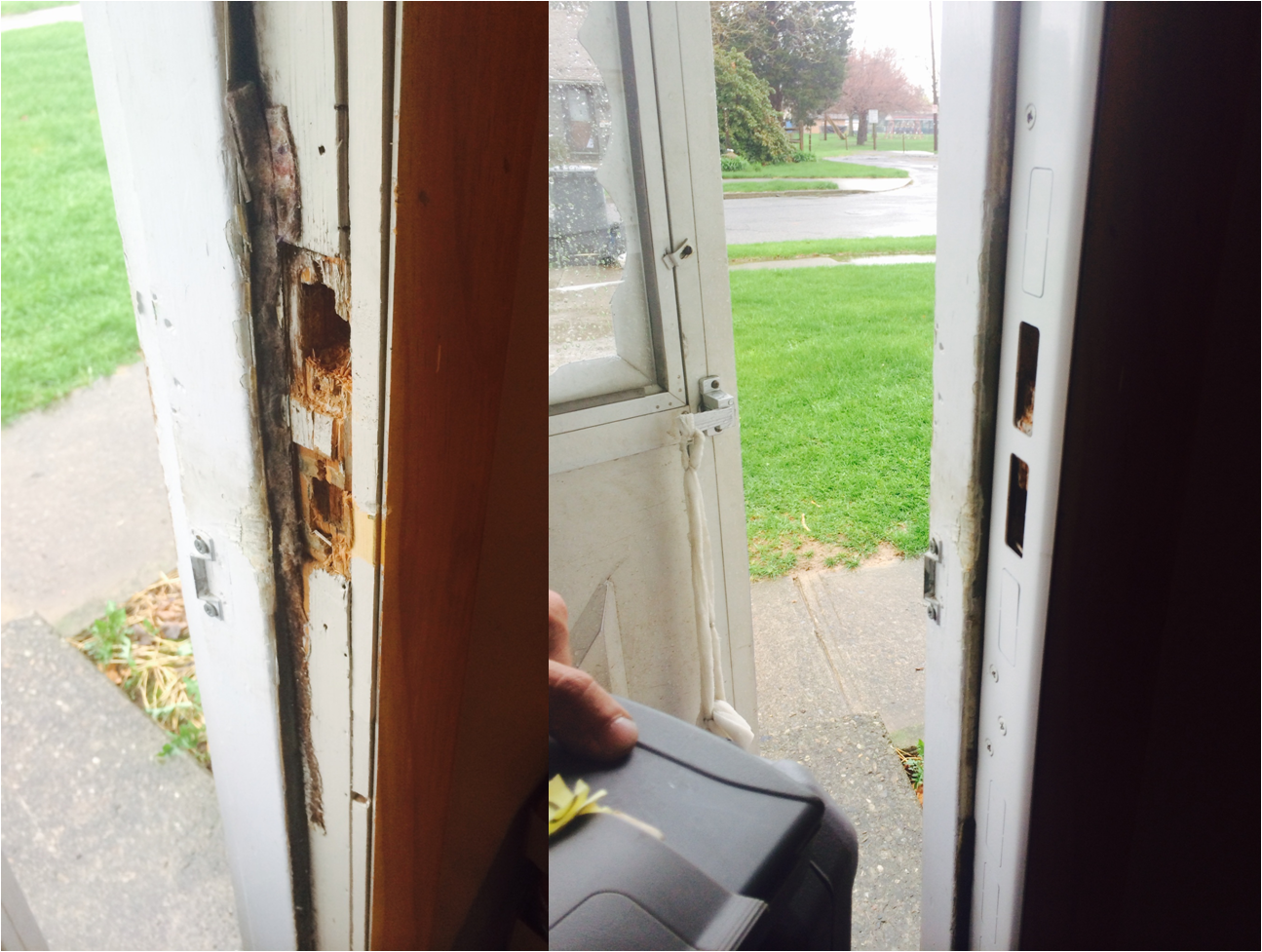 Pictured Is The Before And After For The Installation Of A Jam Jacket Jam Jackets Can Provide Home And Business Owners With An I Locksmith Security Door Frame