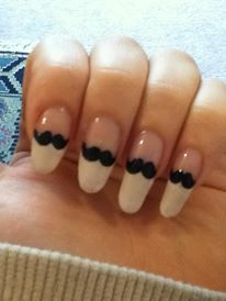 Cute mustache nail art real nails easy opi my nail art cute mustache nail art real nails easy opi prinsesfo Gallery
