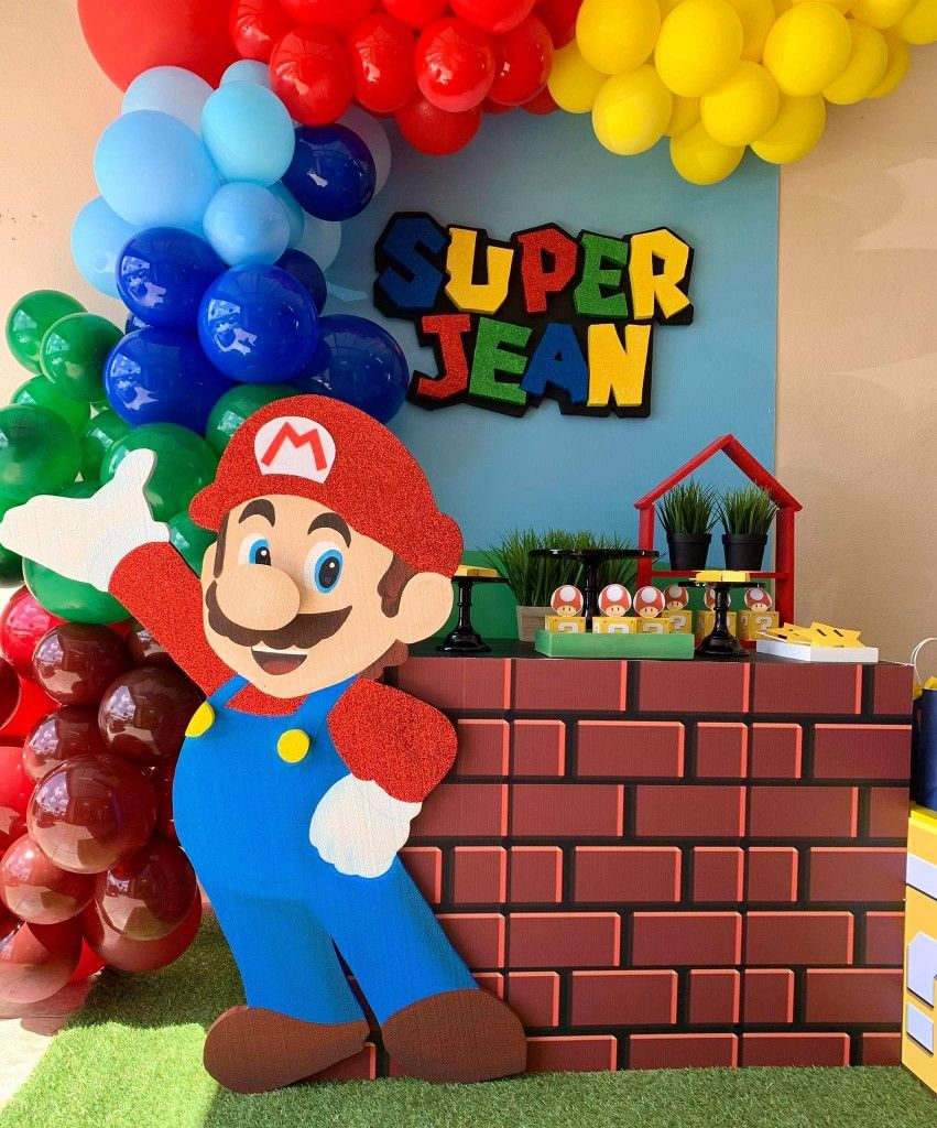 Pin By Keishla Perez On Mario Super Mario Bros Birthday Party Super Mario Bros Party Mario Birthday Party