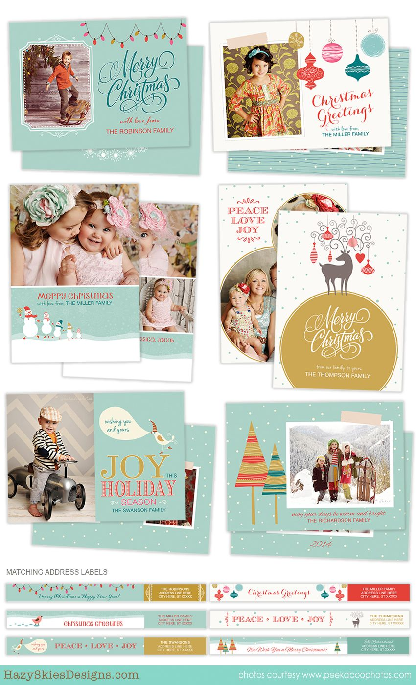 Holiday Card Photoshop Templates For Photographers Christmas Card Template Holiday Card Template Christmas Card Template Photoshop Christmas Card Template