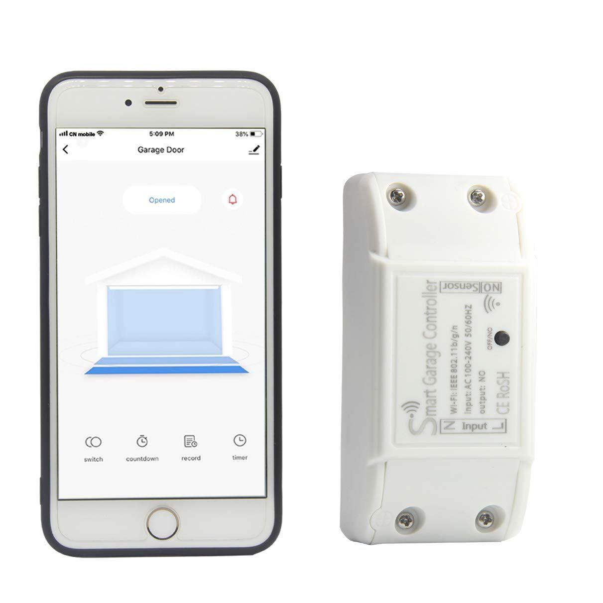 Smart Garage Door Opener Remote with Sensor WiFi Wireless