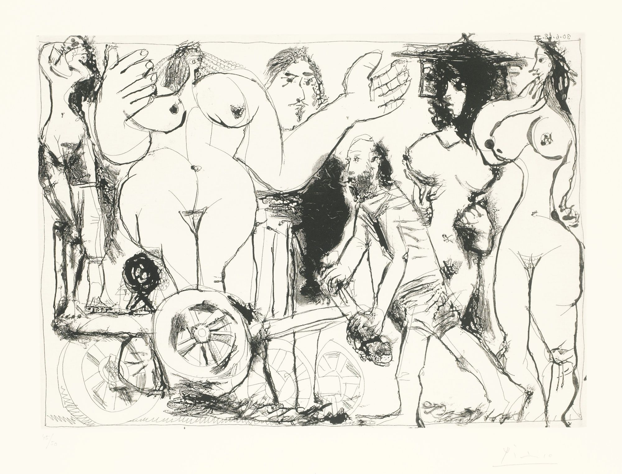 Pablo Picasso,series 347 , etching and aquatint ,1968 Demenagement | Lot | Sotheby's
