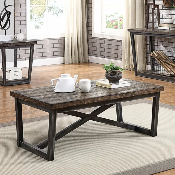 Pederson 3 Piece Coffee Table Set In 2020 Coffee Table With