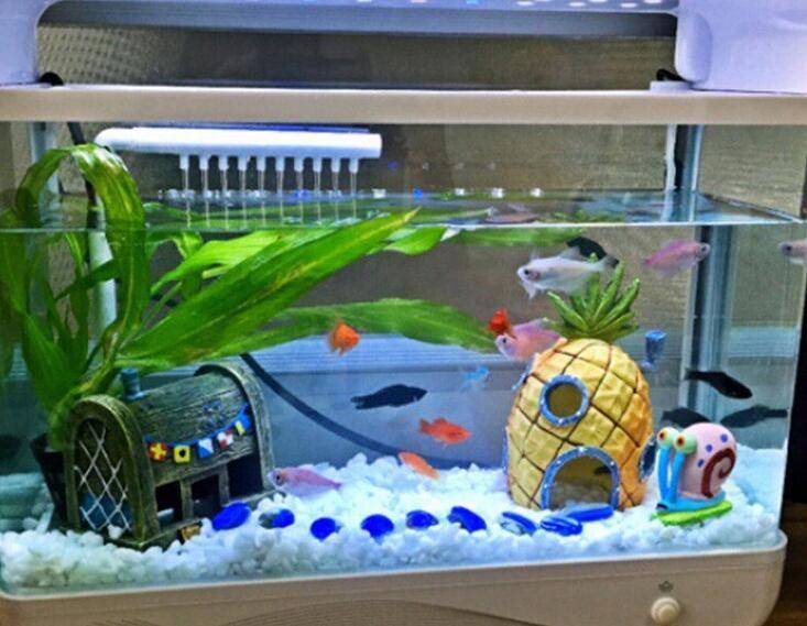 Online Get Cheap House Fish Tank Aliexpress Com Alibaba Group Fish Tank Themes Spongebob Fish Tank Cool Fish Tanks