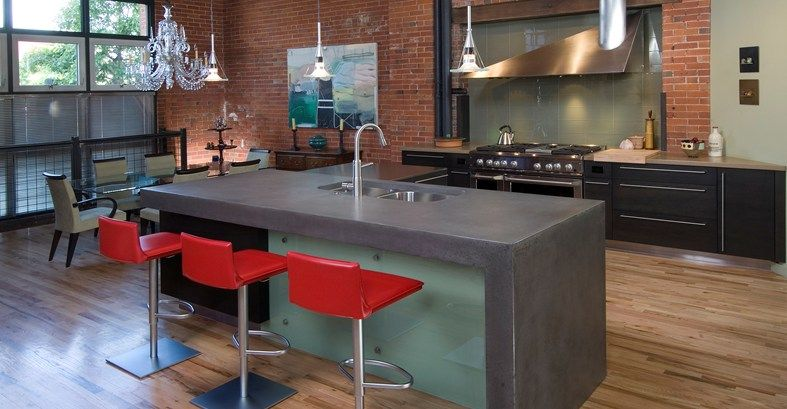 Lovely Kitchen Concrete Countertops   The Concrete Network
