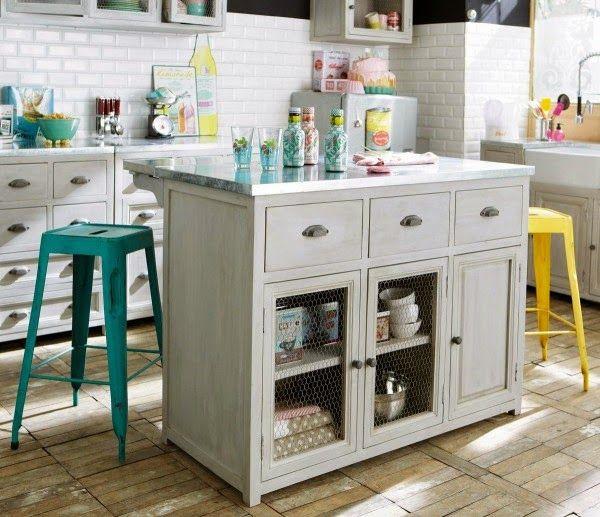 Ideas para colocar una isla en cocinas pequeñas Cocina pequeña - cocinas pequeas minimalistas