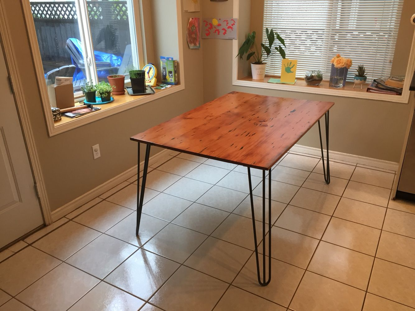 Reclaimed cedar kitchen table