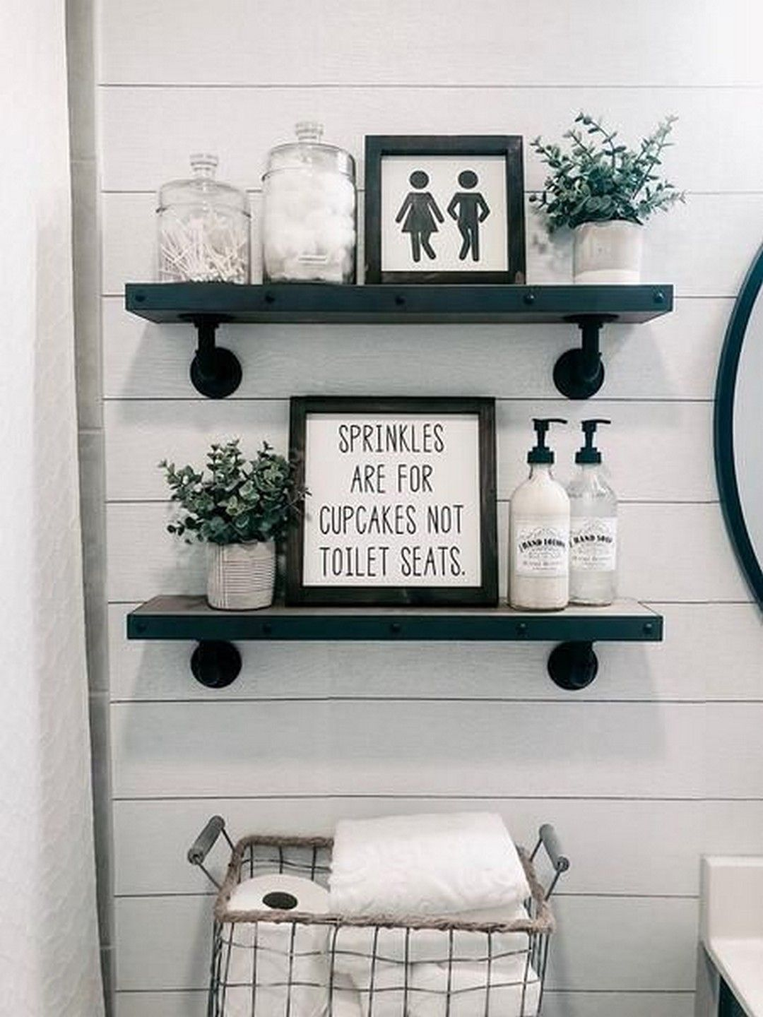 Farmhouse Bathroom Decor And Ideas #bathroomdecoration