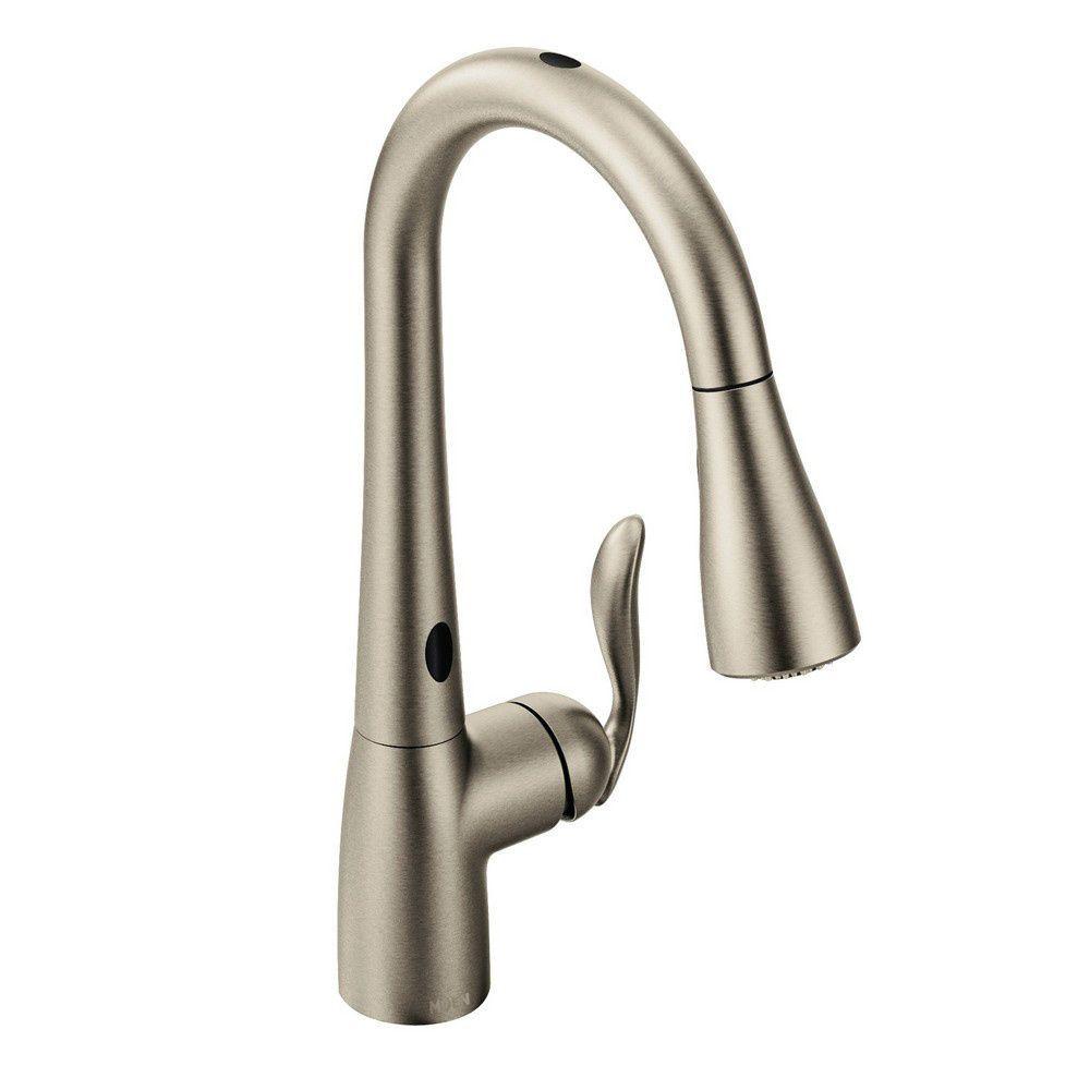 Moen arbor motionsense kitchen faucet spot resist stainless home