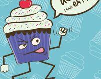 Cupcake Terrors by Erika Anda, via Behance
