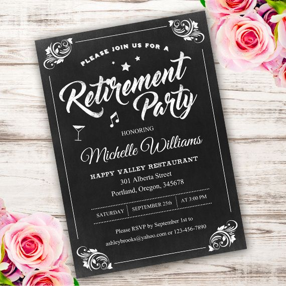 Retirement Party Invitation Template  Invitations