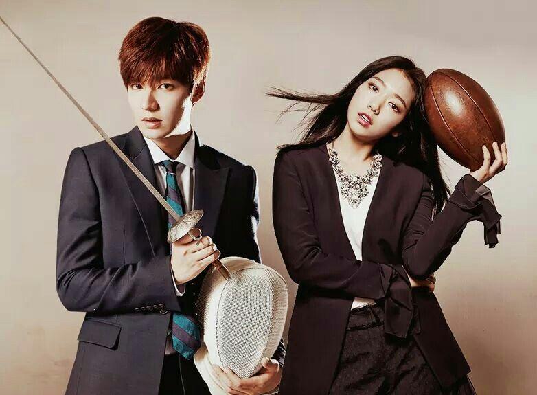 Lee Min Ho and Park Shin Hye for LOTTE DUTY FREE.