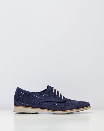 Derby Punch Navy Suede (Tread)
