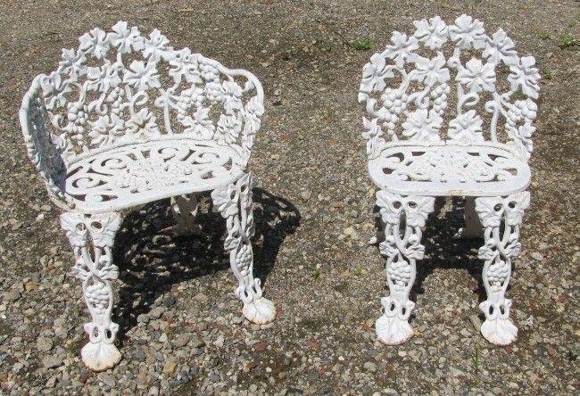 Vintage Iron Outdoor Furniture | Grapes & Vine cast iron garden furniture -  Provenance Mill Works - Vintage Iron Outdoor Furniture Grapes & Vine Cast Iron Garden