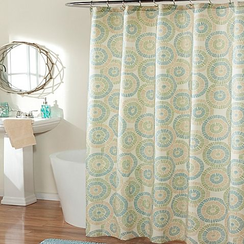 The Ringo Seaglass Shower Curtain Gives Your Bath Some Contemporary Pizazz This Trendy Features