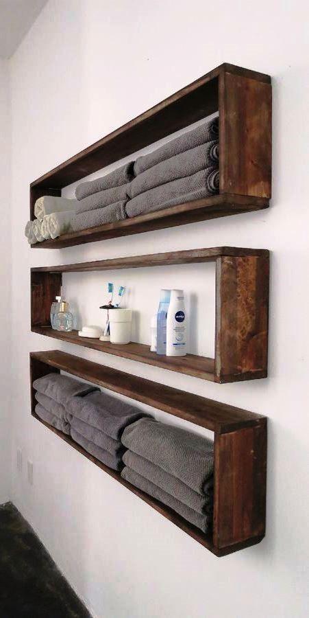 Más de 40 ideas para hacer estantes DIY | Muebles de baño ...