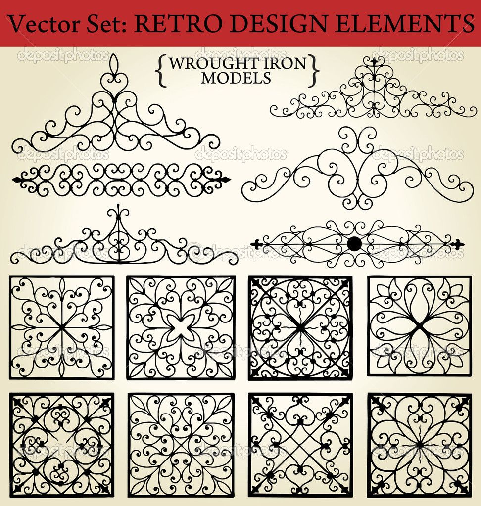 Wrought iron pattern vector pixshark images