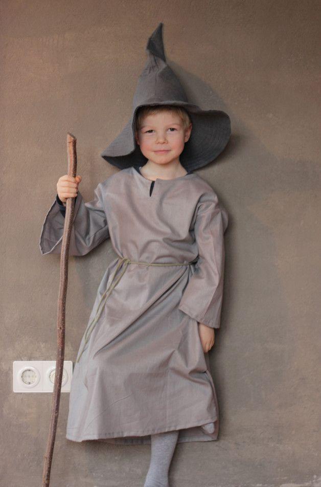 Kostüme für Kinder - Grauer Zauberer - ein Designerstück ...