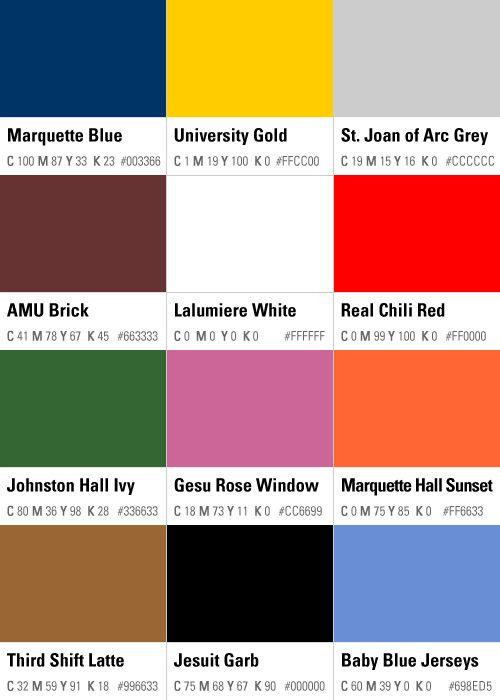 Postmarq Marquette Marquette University House Colors
