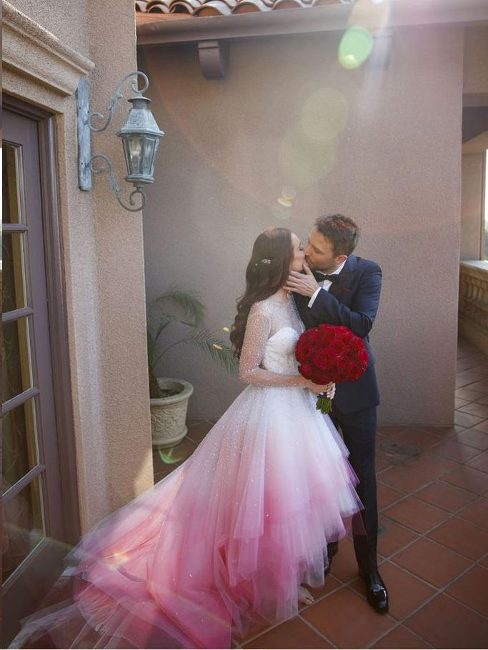 Beautiful Ombre Wedding Dresses High