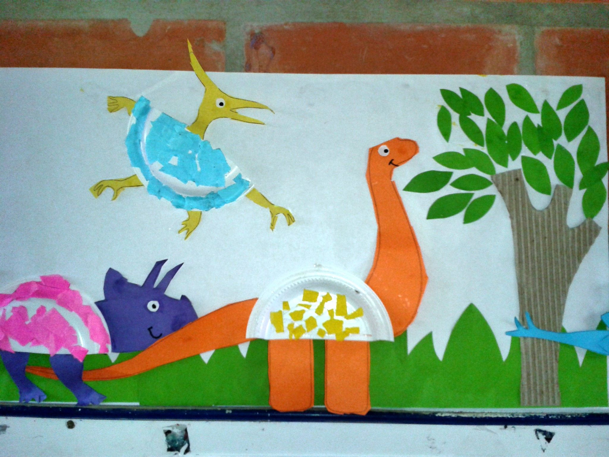 Dinosaurios Con Platos Desechables Proyecto Dinosaurios