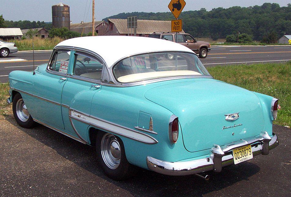 1953 Chevrolet Bel Air Blue White 4 Door Sedan Chevrolet Bel Air Chevrolet Car Chevrolet