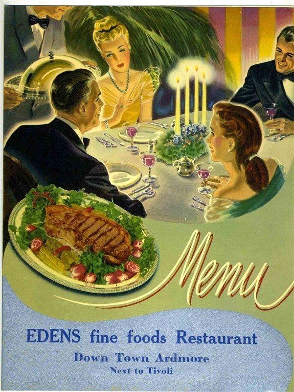 Edens Fine Foods Restaurant Dinner Menu Downtown Ardmore