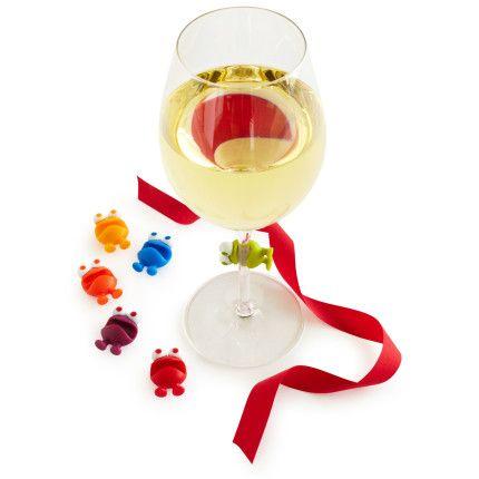 Sur La Table Wine Watchers Wine Charms Set Of 6 The Chalkboard