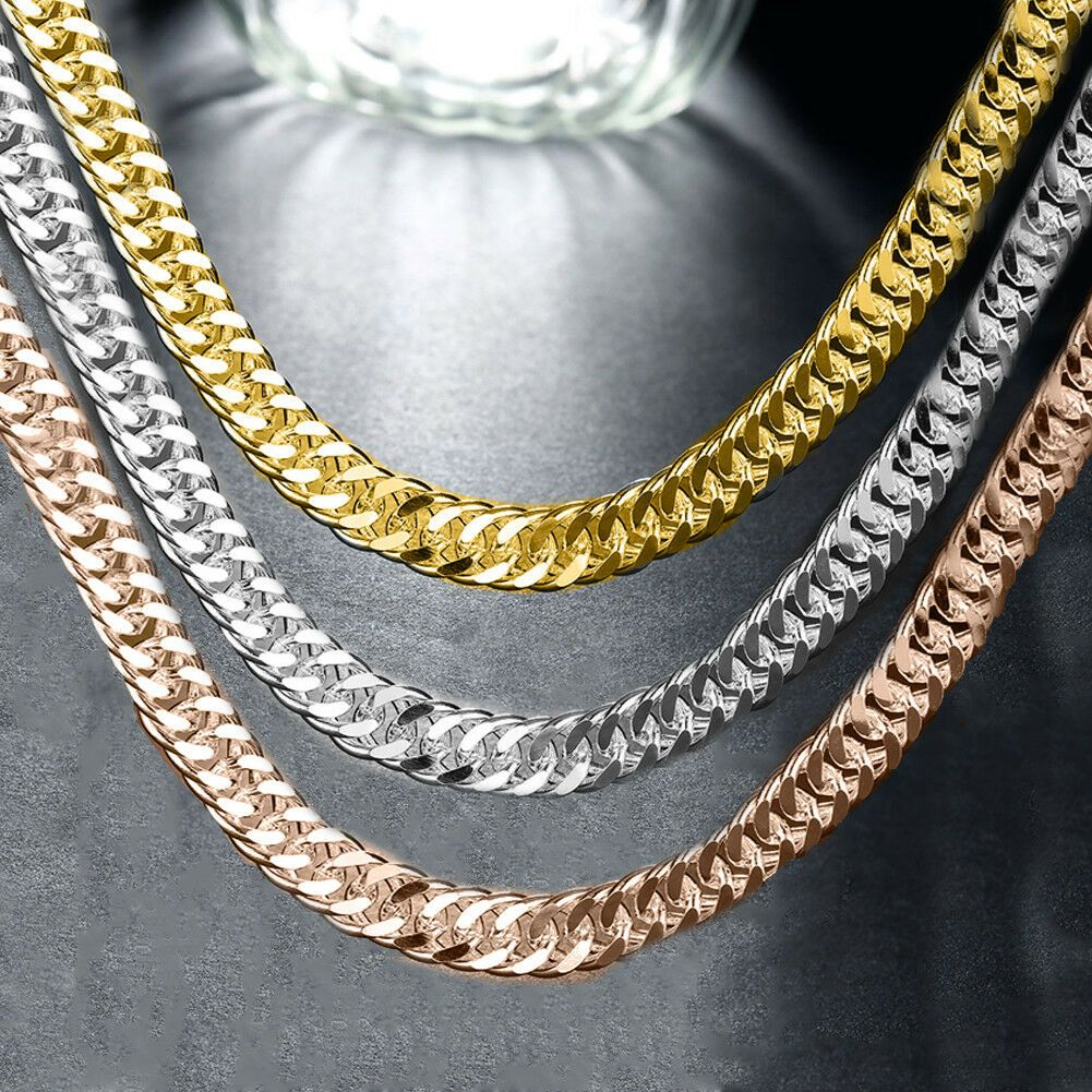 Miami Cuban Yellow 14k Gold Plated 7 10mm Wide 24 30 36 Curb Chain Necklace Yellow Gold Plated Chain Ideas Of Yellow Gold Plated Chain Yellowgoldplatedch In 2020
