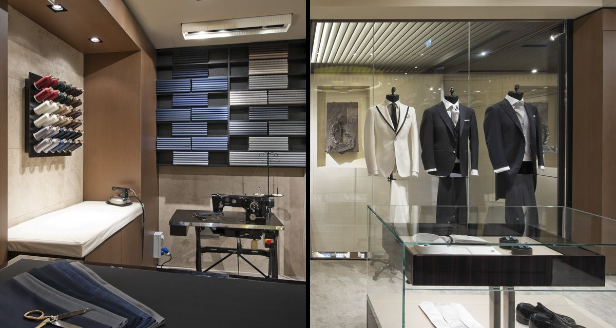 The Tailors Shop Faces Large Empty Space At Entrance Nicola Biondanis Il Sarto