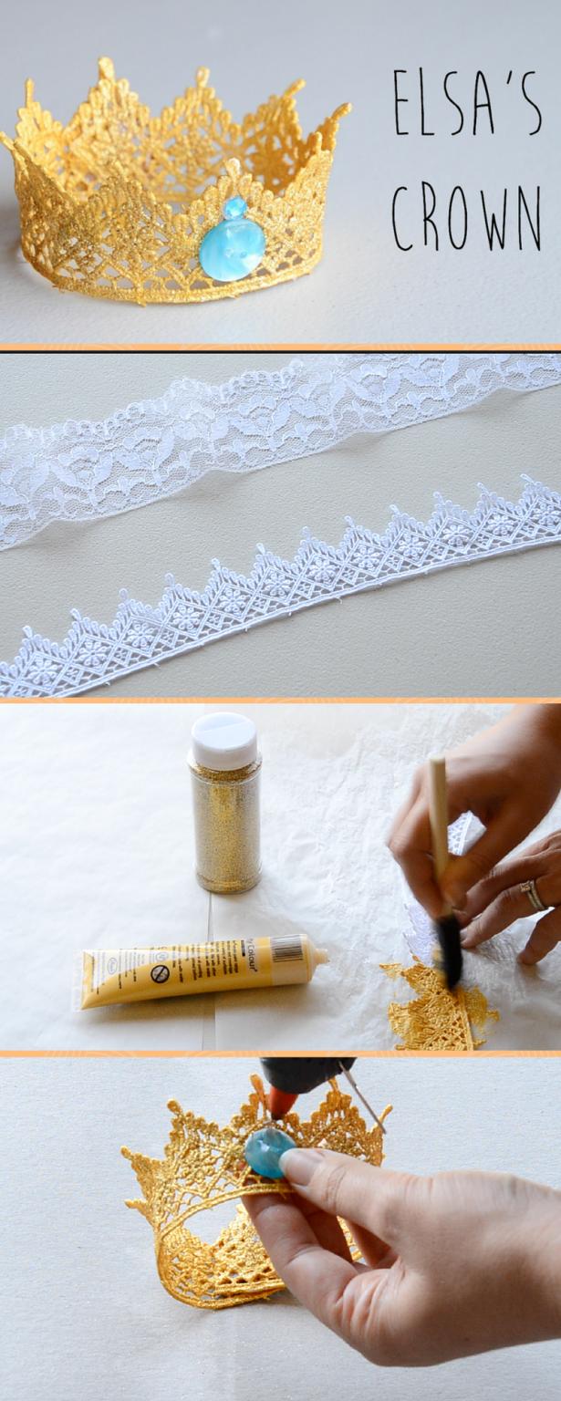 Frozen Elsa's Crown DIY! Lace Crown DIY!   Ali Coultas