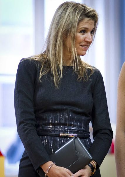 Queen Maxima visited the Liduina school in The Hague, December 16, 2015.
