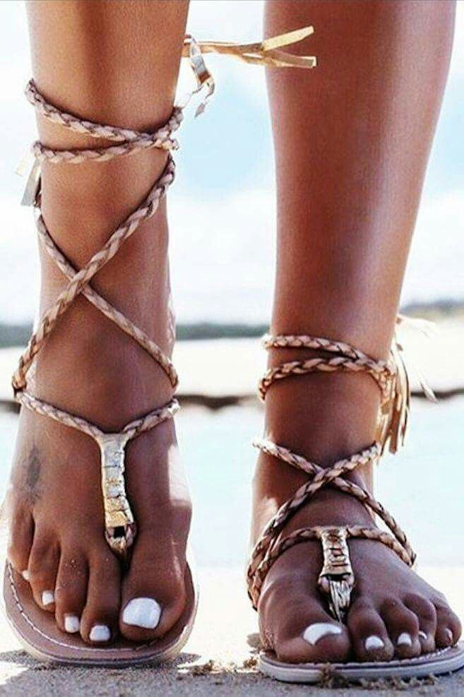 3e18fe691c3 The L Space Gili Wrap Sandal is all about the details with a tie closing  that features golden fringe ends.