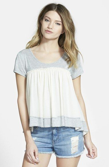 Taylor & Sage Colorblock Tee (Juniors) available at #Nordstrom