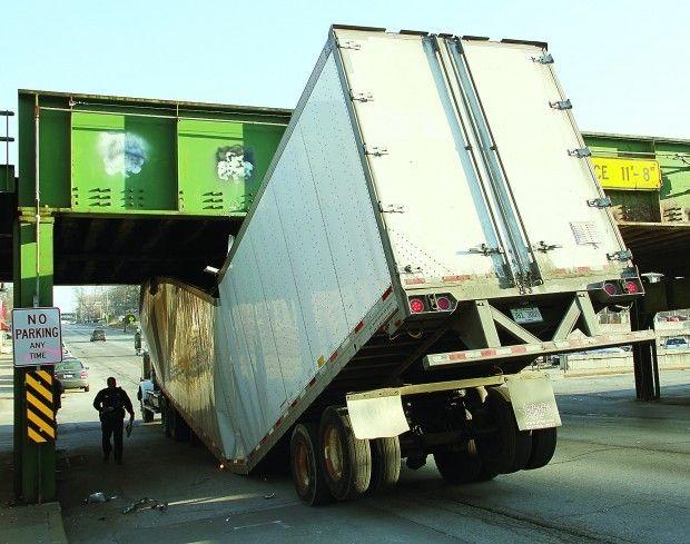 Q C Truck Eating Bridges Gobble Up Another Victim Car Fails Bad
