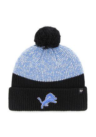 fd8dc715fd1  47 Detroit Lions Blue Backdrop Knit Hat.
